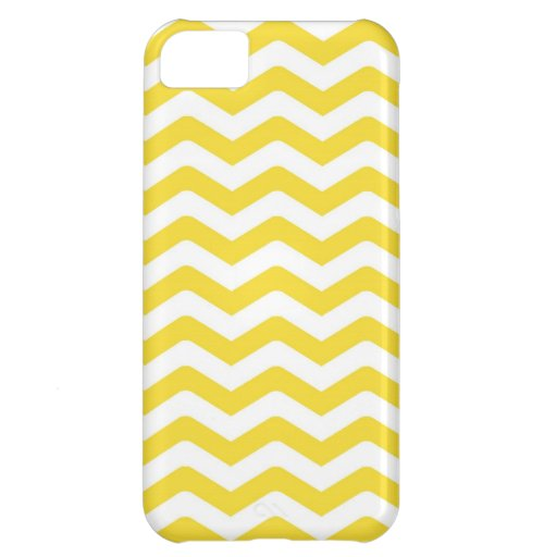 Yellow Tight Chevron Pattern Cover For iPhone 5C