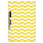 Yellow Tight Chevron Pattern Dry-Erase Whiteboards