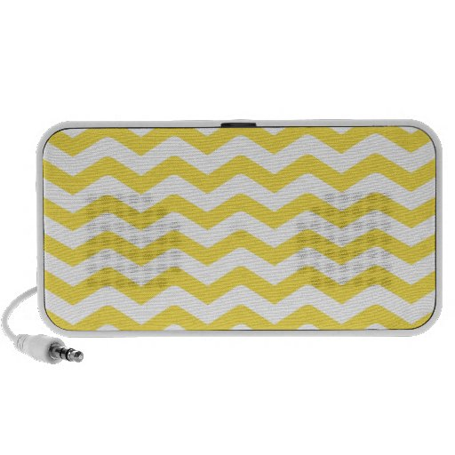 Yellow Tight Chevron Pattern Laptop Speaker