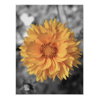 Yellow Tinted Flower Poster
