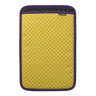 yellow tiny gray polka dots MacBook air sleeves