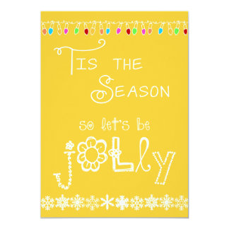 Yellow Tis the Season Holiday Party Invitation