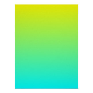 Yellow to Aqua Gradient Poster