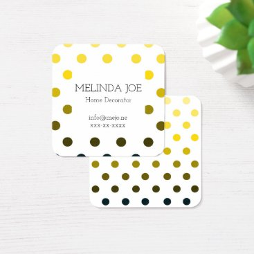 Professional Business Yellow to Black Monochrome Dots Business Card