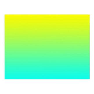 Yellow to Blue Gradient Gradation Island Breeze Postcard