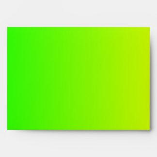Yellow to Green Gradient Envelope