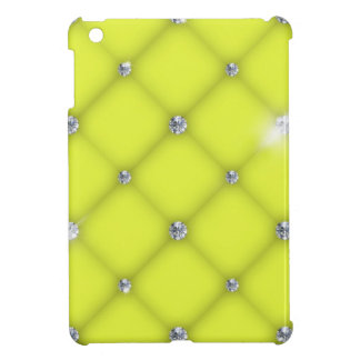 Yellow to leather upholstery with diamonds case for the iPad mini