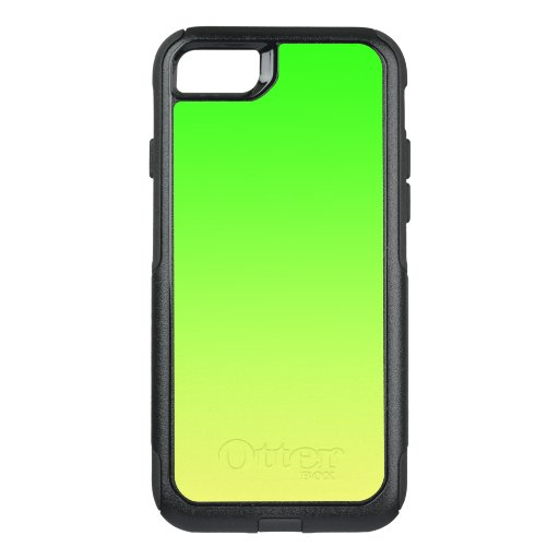Yellow to Lime Green Ombre OtterBox Commuter iPhone SE/8/7 Case