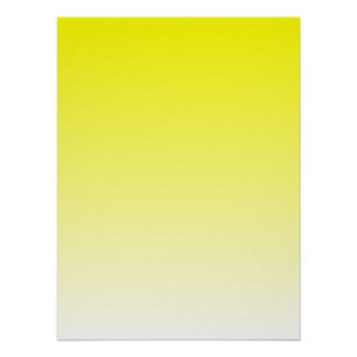 Yellow to White Gradient Poster