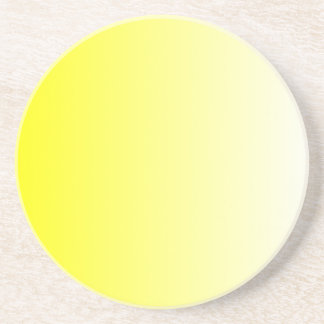 Yellow to White Gradient Sandstone Coaster