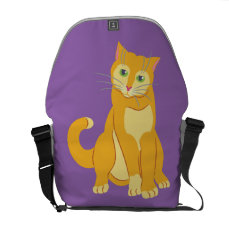 Yellow Tom Cat Courier Bag