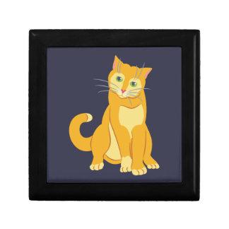 Yellow Tom Cat Jewelry Box