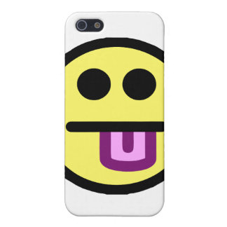 Yellow Tongue Out Smiley Face Case For iPhone SE/5/5s
