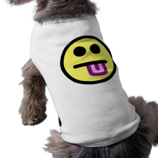 Yellow Tongue Out Smiley Face Pet Clothing