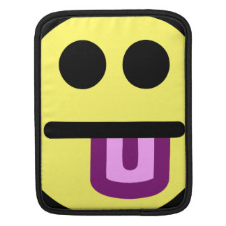 Yellow Tongue Out Smiley Face Sleeves For iPads