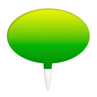 yellow top green bottom gradient cake topper