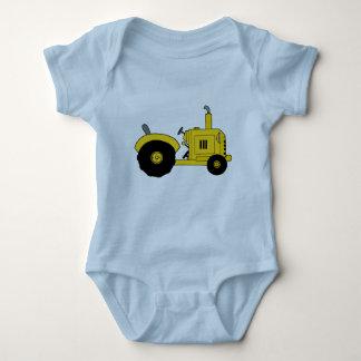 Yellow Tractor Baby Bodysuit