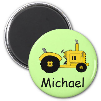 Yellow Tractor Magnet