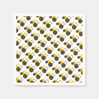 Yellow Tractor Paper Napkins