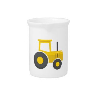 Yellow Tractor Beverage Pitchers