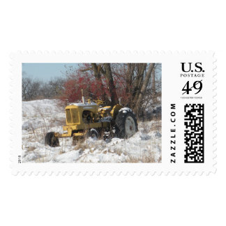 Yellow Tractor Postage