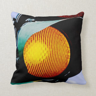 Yellow Traffic Light Pillow