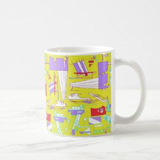 yellow train coffee mug
