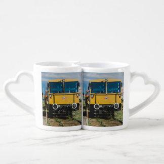 Yellow train coffee mug set