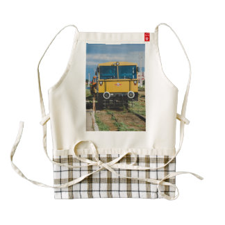 Yellow train zazzle HEART apron