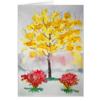 Yellow Tree Card