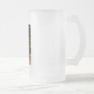 Yellow Tree Frosted Glass Mug