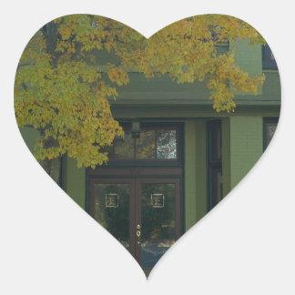 Yellow Tree Green Store Heart Sticker