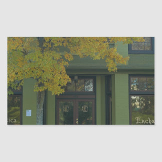 Yellow Tree Green Store Rectangular Sticker