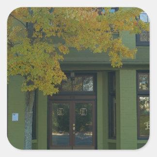 Yellow Tree Green Store Square Sticker