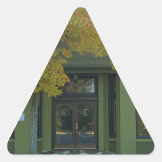 Yellow Tree Green Store Triangle Sticker