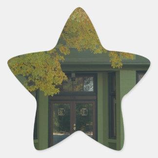 Yellow Tree Green Store Star Sticker