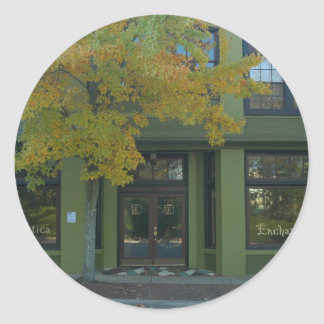 Yellow Tree Green Store Classic Round Sticker