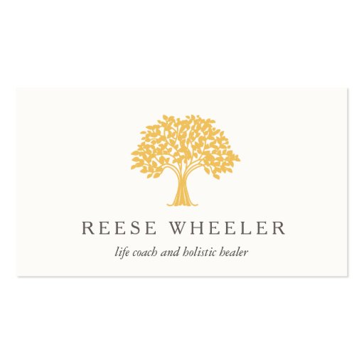 Yellow Tree Logo Health and Nature Life Coach Business ...