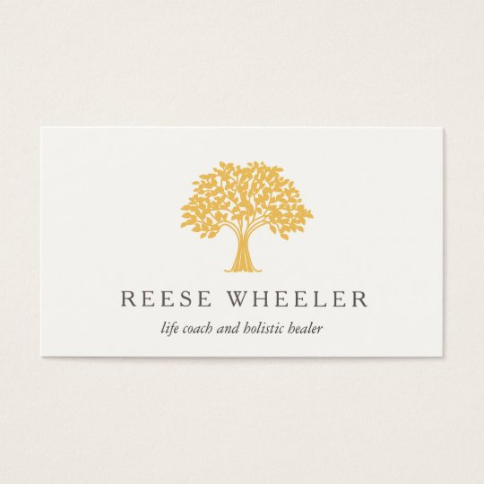 Yellow tree logo health and nature life coach business card zazzle yellow tree logo health and nature life coach business card colourmoves