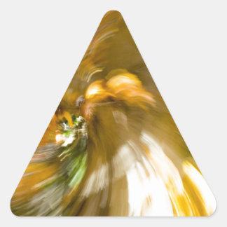 Yellow Tree Swirl's Two Triangle Sticker