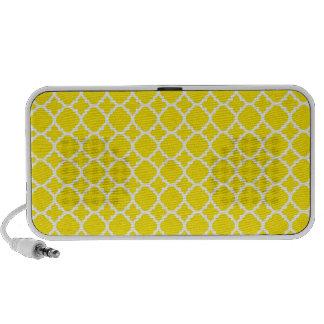 Yellow Trellis Design Mini Speakers