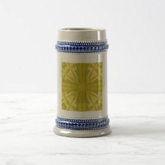 Yellow trendy pattern art mug