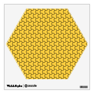 Yellow Tri-Hex Wall Decal