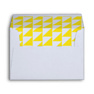 Yellow Triangle Geometric Envelope Collection