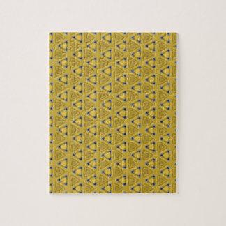Yellow Triangular Pattern Jigsaw Puzzle