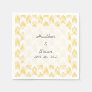 Yellow Tribal Arrows Paper Napkins
