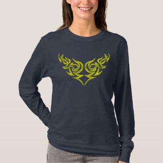 Yellow Tribal distressed wing motif 2 T-Shirt