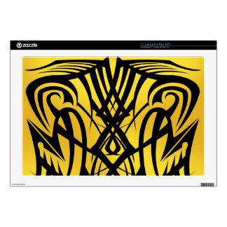Yellow Tribal Laptop Vinyl Skins Laptop Decal