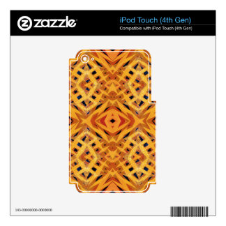 Yellow tribal shapes pattern iPod touch 4G decal