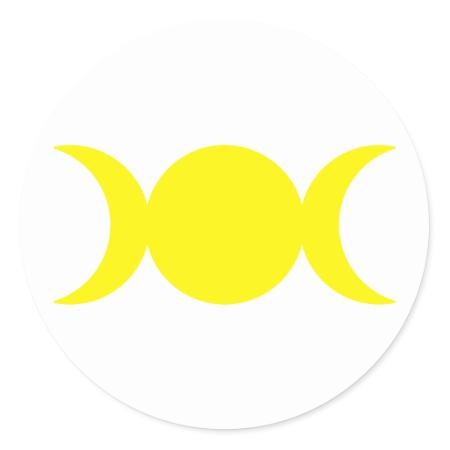 Yellow Triple Goddess Stickers